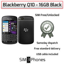 BlackBerry Q10, 16GB Black (Unlocked) QWERTY Smartphone - Good Condition/Grade B