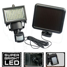 100 LED PIR Motion Sensor Solar Powered Security Flood Light Lamp Garden Outdoor