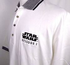 Star Wars Episode I Movie Pepsi Promo Cotton Polo Rugby Shirt Size XL White