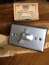 """New Old Stock Eagle Weatherproof Switch """"T"""" Rated Steampunk Industrial 3 Way"""