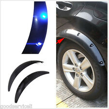 2 Pcs Car Fender Flare Wheel Eyebrow Protector Soft LED Light Universal black