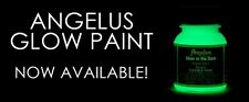 Angelus Shoe Polish Co. Green Glow in the Dark Acrylic Leather Paint 1oz Bottle