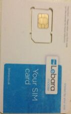 BRAND NEW LEBARA SIM CARD WITH £5.00 CREDIT FOR £2.99