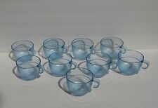 Tupperware Watercolor Preludio Acrylic Set of 9 Blue Punch Bowl Cups EUC