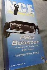 "NCE ""The Powr of DCC"" PB5 Booster w/ power supply USA MIB"