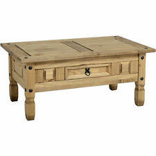 CORONA COFFEE TABLE ONE DRAWER MEXICAN PINE WAXED FINISH  FREE POSTAGE