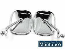 VW Camper T2 Door Mirrors Chrome Baywindow Bus Van Transporter Side Wing 1968-79