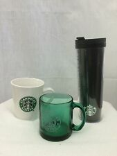 Starbucks Cup Lot Tall Travel Tumbler/springer Gift Mug/Green Glass Cup Mermaid