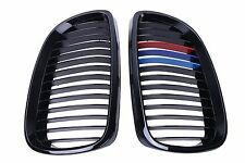 For BMW 2007-2010 E92 E93 328i 335i Gloss Black M-color Front Kidney Grilles