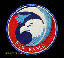 F-15 EAGLE SWIRL PATCH US AIR FORCE PIN UP VETERAN USAF AFB PILOT AIR CREW WOW