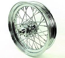 "Chrome 16"" X 3"" 40 Spoke Rear Wheel Dual Flange 1973-1984 Harley Big Twin 51642"