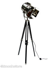LARGE UK TRIPOD STUDIO THEATER SPOTLIGHT SEARCHLIGHT FLOOR LAMP LIGHT BARNDOOR