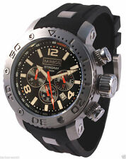"BARBOS ""Stingray Black"" Chronograph Taucheruhr Wasserdicht 1000m/100atm Herrenuh"