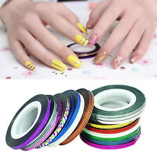 32Pc Mixed Colors Rolls Striping Tape Nail Art Tips Decoration Sticker Best