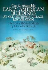 HO 1:87 Scale Early American Old Bethpage Village Cut  Assemble Card Model Book