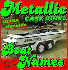 2x BOAT YACHT NAMES - 800mm ULTRA METALLIC CAST VINYL DECAL STICKER GRAPHICS