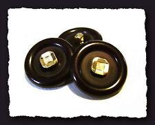 4 BOUTONS Noir Marine foncé & doré  23 mm 2,3 cm pied * Button Sewing mercerie