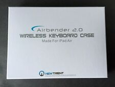 New Trent AIRBENDER 2.0 Wireless Bluetooth Keyboard Case For iPad Air - BLACK !