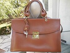 "NWT Authentic $1,595 MARC JACOBS ""The 1984"" Leather Satchel Bag~ Brown~ITALY"