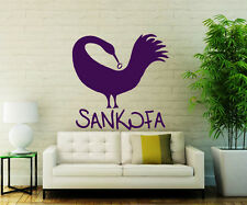 Sankofa Wall Decals Bird African Adinkra Decal Vinyl Sticker Home Decor Chu1055