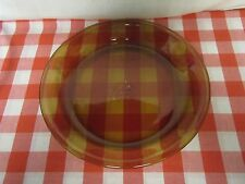 """Fire King Anchor Hocking #460 Amber Glass Pie Plate - 9"""""""