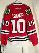 Reebok Premier NHL Jersey CHICAGO Blackhawks Patrick Sharp Red sz L