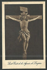 Postal antigua del Cristo de Limpias andachtsbild santino holy card santini