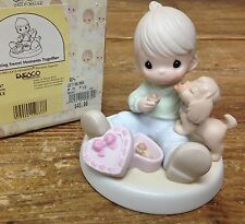 Precious Moments Figurine Sharing Sweet Moments Together Girl Puppy 526487 Heart