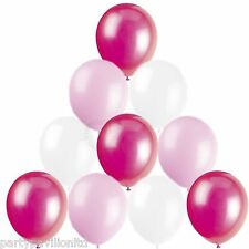 30 Baby Light Pink White Helium Balloons Girls Christening Communion Decorations
