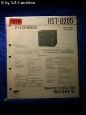 Sony Service Manual HST D205 Component System (#1416)