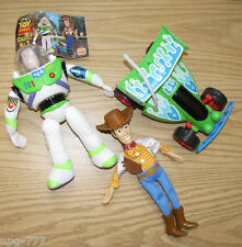 SET/3 Disney 1996 Toy Story Burger King Toys Woody Andy's RC Car Buzz Lightyear