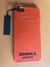 $85 New Old Stock Shinola Leather iPhone 5 Bold Orange Hard Smartphone Case Save