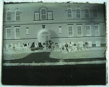 Glass Negative Photo Bicycle Parade Remember the Maine Bike Float Old Vtg 1898?