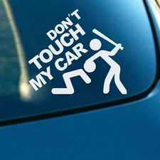 """""""Don't Touch My Car"""" Auto SUV Window Rear Trunk Fenders Reflective Decal Sticker"""