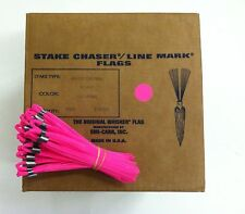 """Smi-Carr 6"""" Stake Chaser® Whiskers/Line Mark® Flags, Pink - 1000 Count"""