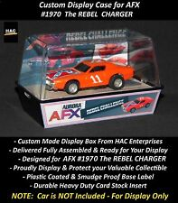 Custom Display Case AURORA AFX #1970 REBEL CHARGER  (Finally a Box for this Car)