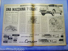 LAUTOM959-RITAGLIO/CLIPPING-ROAD IMPRESSION-1959- RENAULT GORDINI