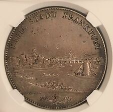 Germany 1843 Frankfurt Silver 2 Thaler NGC Certified Nearly Mint State Original