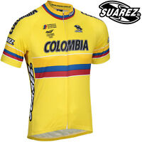 Suarez Men's Yellow Colombia National Team Cycling Jersey - CLEARANCE WAS £49.99