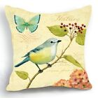 Retro Vintage Acacia Bird Home Decorative Pillow Case Cushion Cover 18''