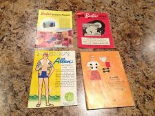 4PC LOT Vintage 1960's Barbie Catalog Pamphlet Book Outfits Fashion Clothes