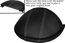 WHITE STITCH FITS MERCEDES A CLASS W168 97-04 SPEEDO HOOD LEATHER COVER ONLY