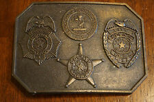 Vintage 1976 Brass Bob Thomas Tennessee State and Law Enforcement Belt Buckle