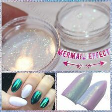EMERALD MERMAID EFFECT Nails Art Glitter Powder Magic Dust Glimmer Szmaragrowy