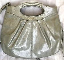Coach Lexi  Metallic Patent Leather Crossbody! ( Green ) Wow! L@@k!!!
