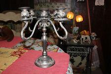 Vintage Godinger Silver Metal Candelabra Candlestick Holder-Holds 5 Candles-LQQK
