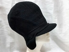 Black Rasta Newsboy Tam Dread Locks Hat Winter Acrylic Thick Warm Ear Flap Long