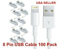 100X 8 Pin USB Charger Cord Sync Data Cable for iPhone 6, 5 3FT Wholesale Lot