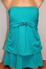NWT Michael Kors Swimsuit Tankini 2 pc set Plus Sz 20W Skirt Tile Blue Strapless
