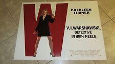 V.I. Warshawskimovie poster - Kathleen Turner - original uk quad poster